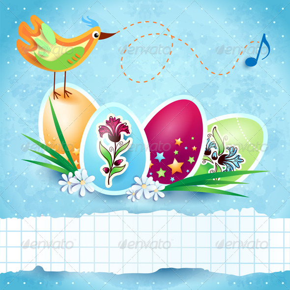 Easter Card with Custom Banner - Seasons/Holidays Conceptual