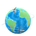 3d Planes flying around the globe - PhotoDune Item for Sale
