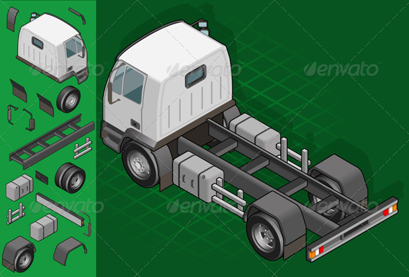 GraphicRiver Isometric Truck Solo Driving 4137607