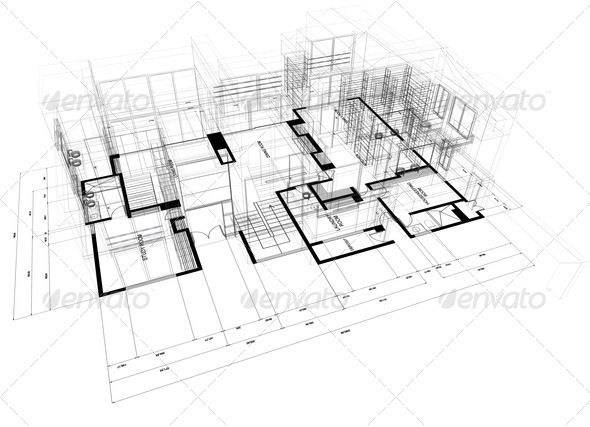 PhotoDune House wire model 447298