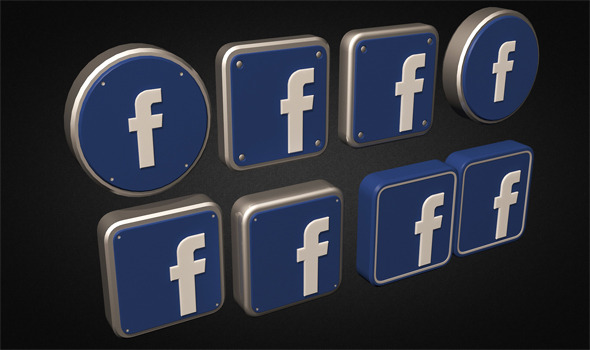 3DOcean Facebook Logo Collection 4138367