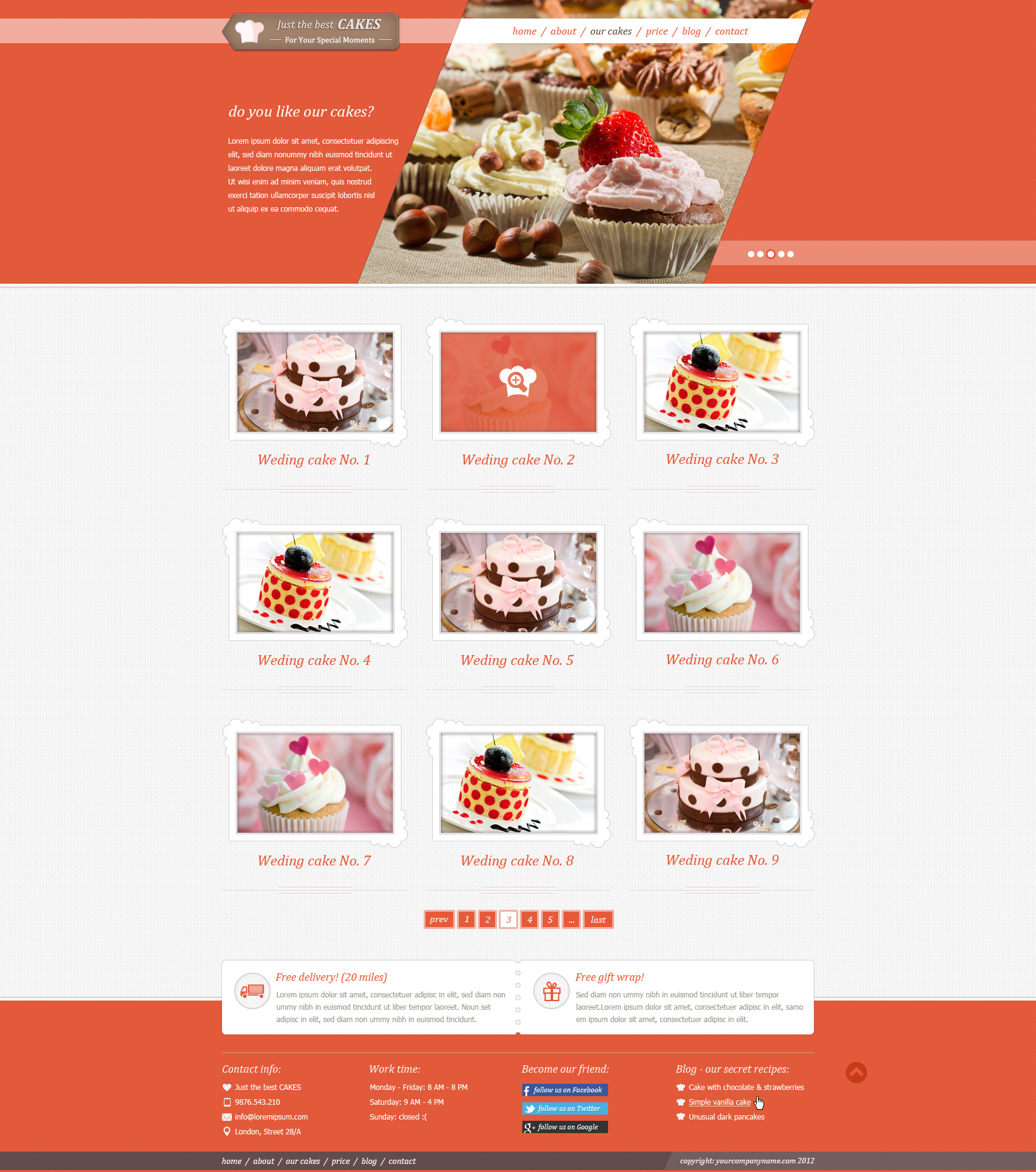 Just Cakes / PSD Theme