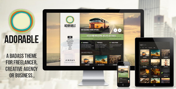 ADORABLE - clean and responsive wordpress theme - Creative WordPress