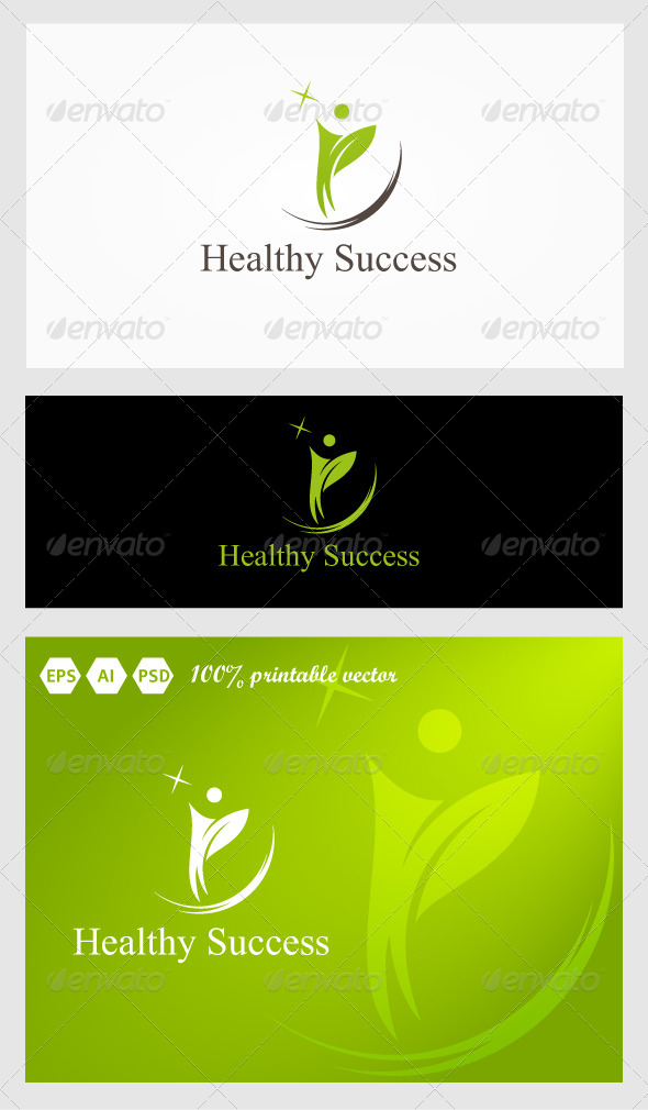 Healthy Success Logo - Humans Logo Templates