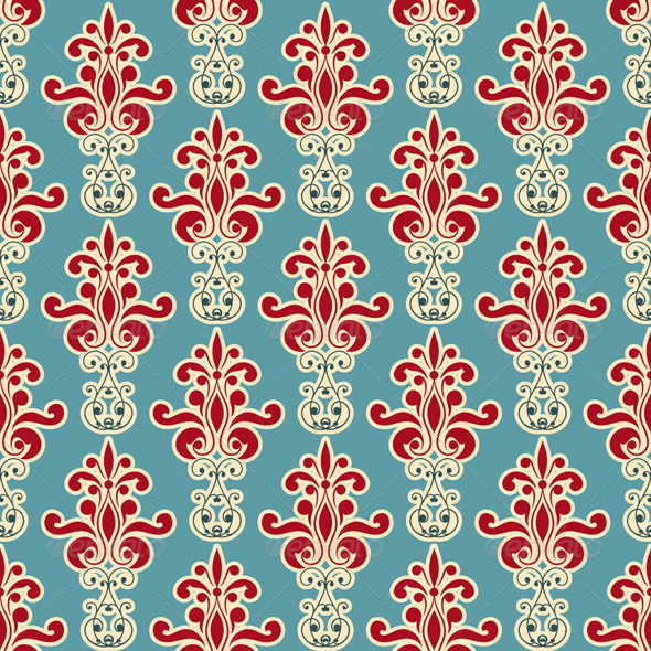 Vector Seamless Floral Wallpaper Pattern - Patterns Decorative