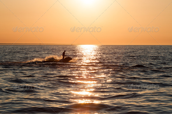PhotoDune Young guy cruising in the baltic sea on a jet ski 4152514