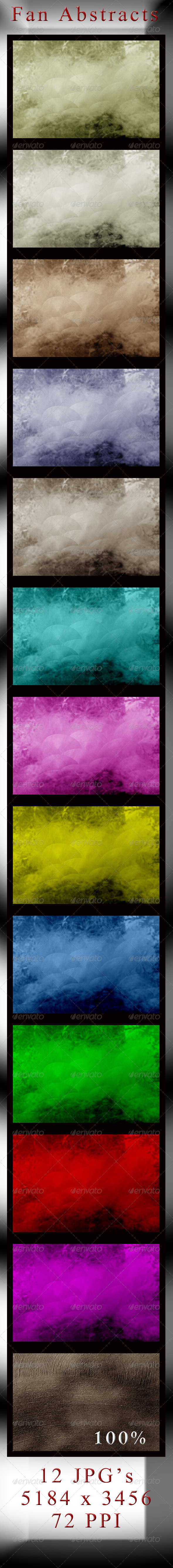 GraphicRiver Fan Brush Stroke Abstract Textures 4140084