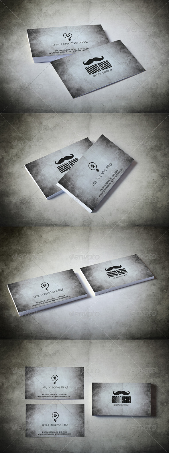 GraphicRiver Vintage Pro Business Card 4140555