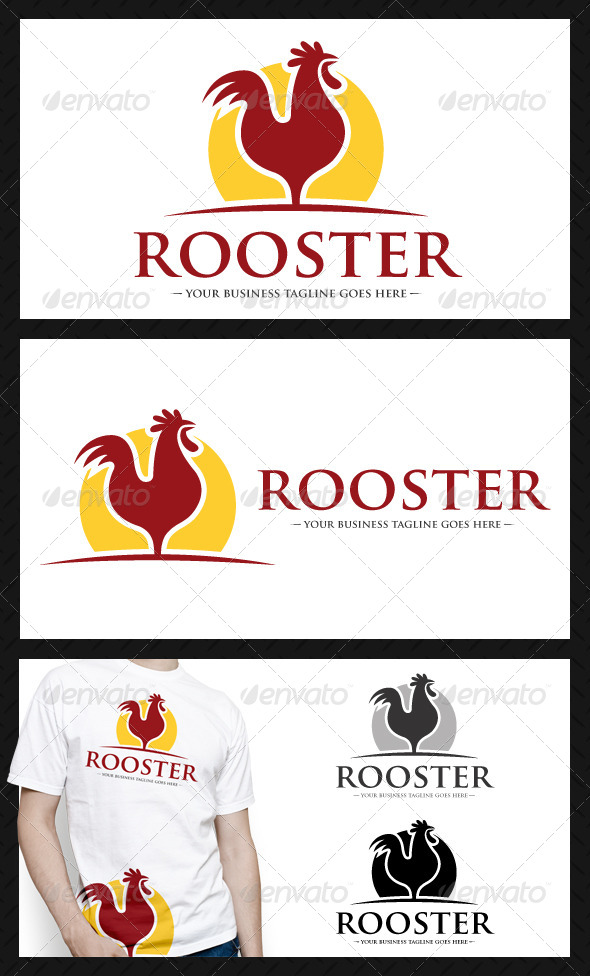 GraphicRiver Rooster Logo Template 4140594