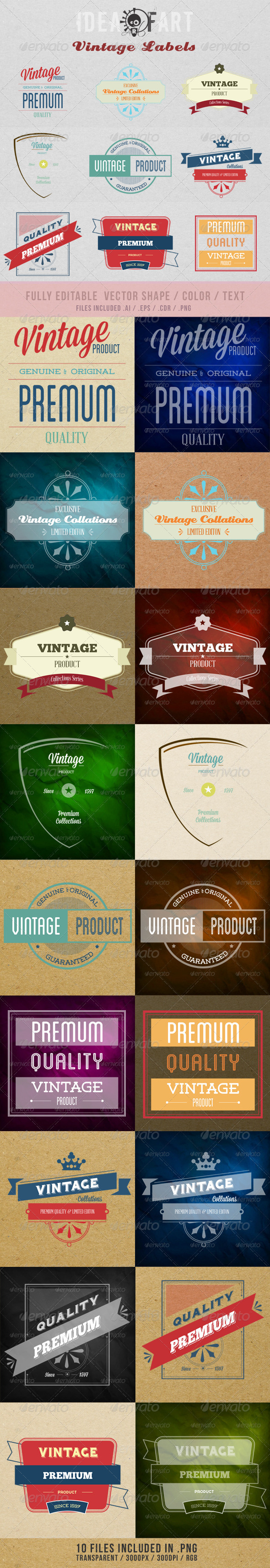 GraphicRiver Vintage Labels 4140665