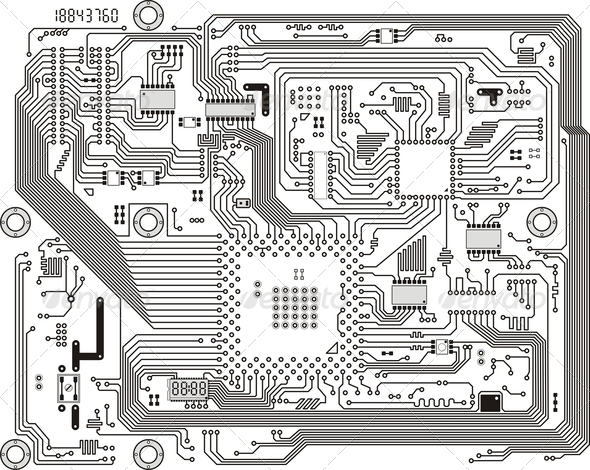 PhotoDune Electronic modern circuit board background 4141388