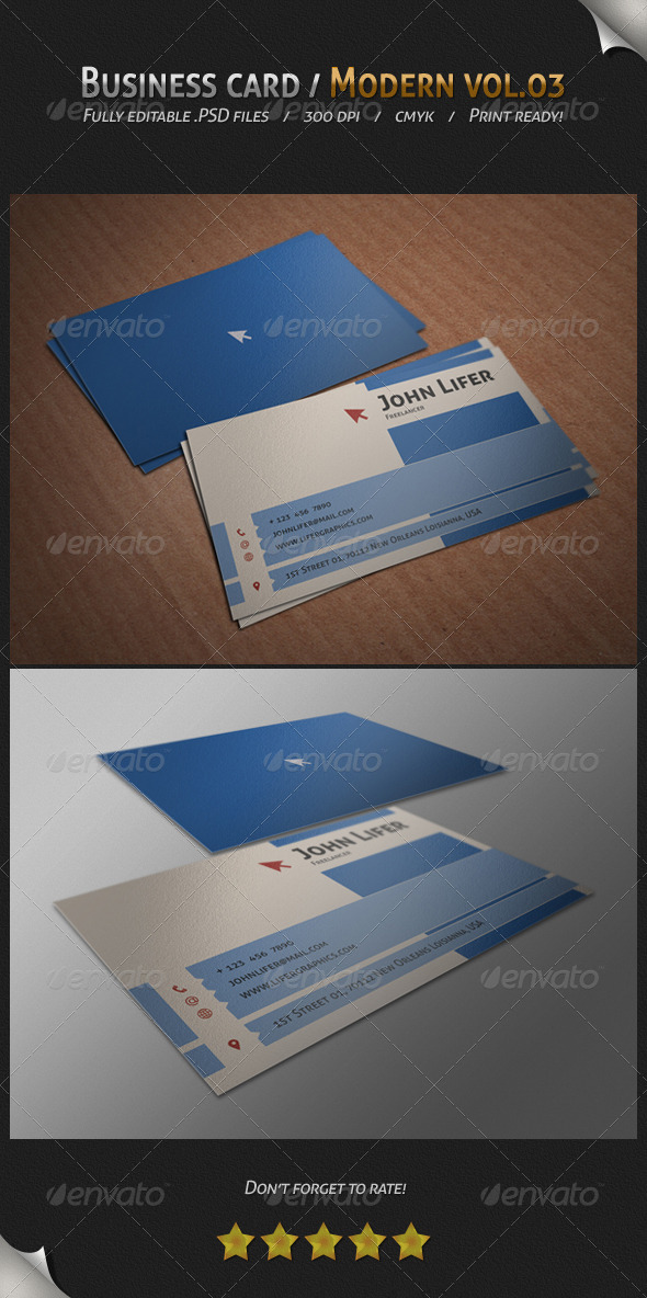 GraphicRiver Business Card Modern Vol.03 4141514