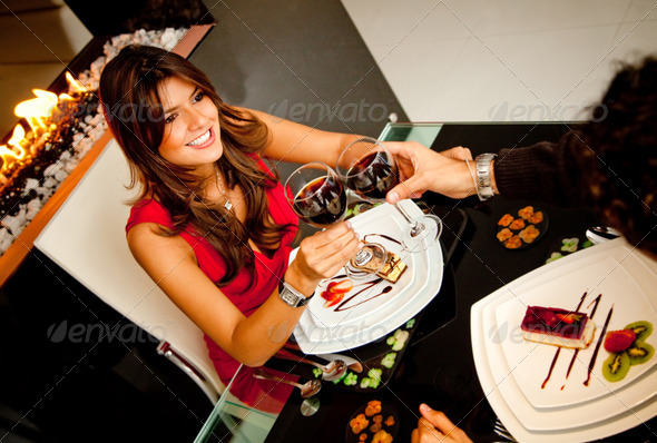 Stock Photo - PhotoDune Couple in a romantic dinner 447729
