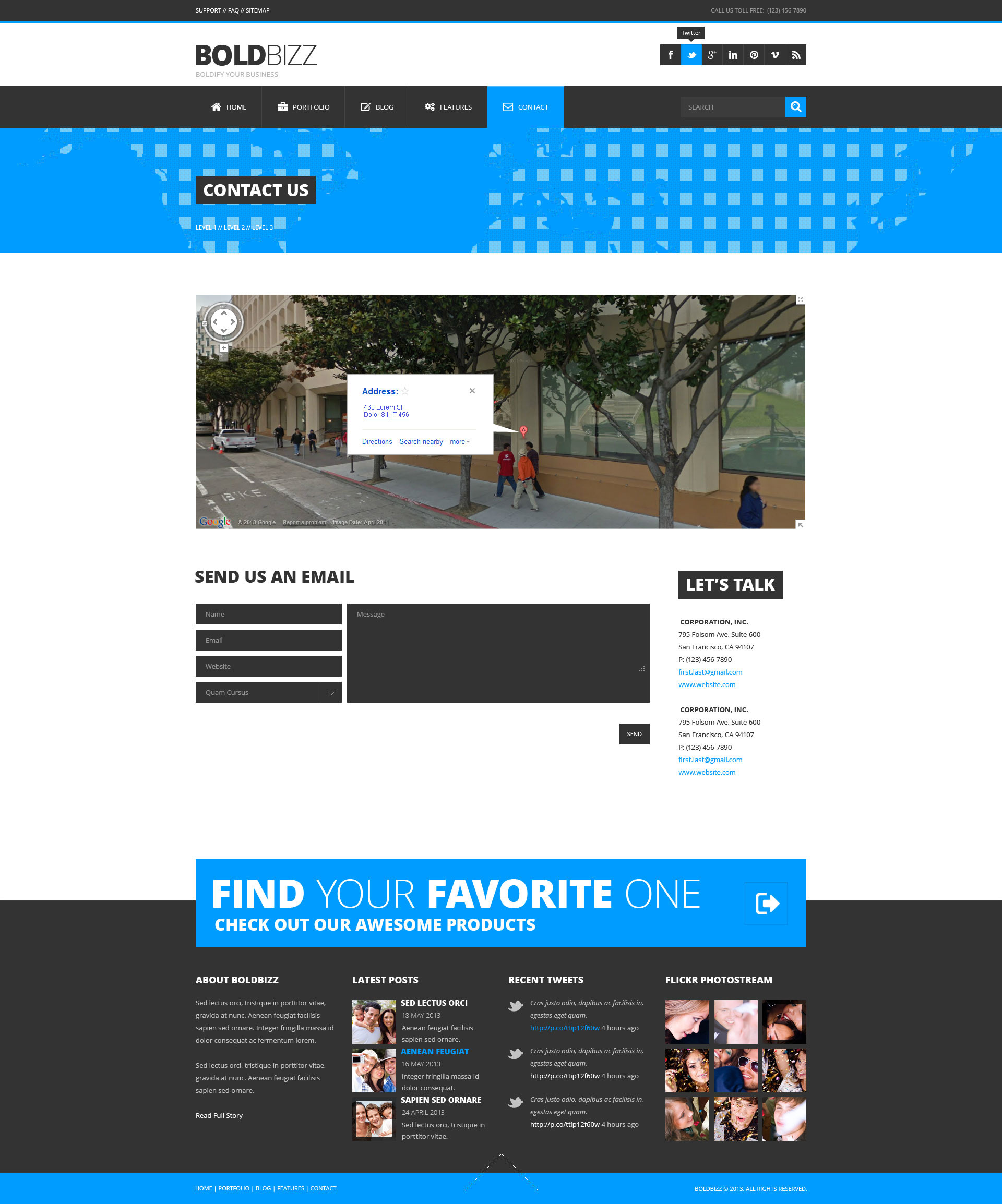 BOLDBIZZ - Multi Purpose PSD Template