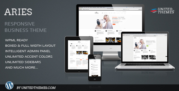 Aries Responsive Business WordPress Theme - Business Corporate