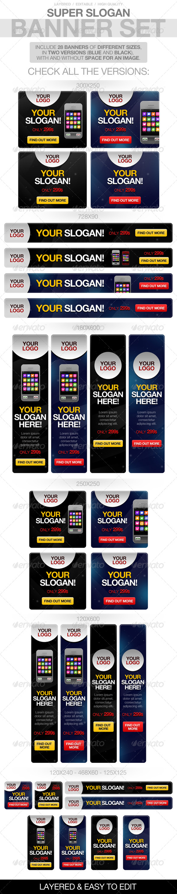 GraphicRiver Slogan Banners 4065841