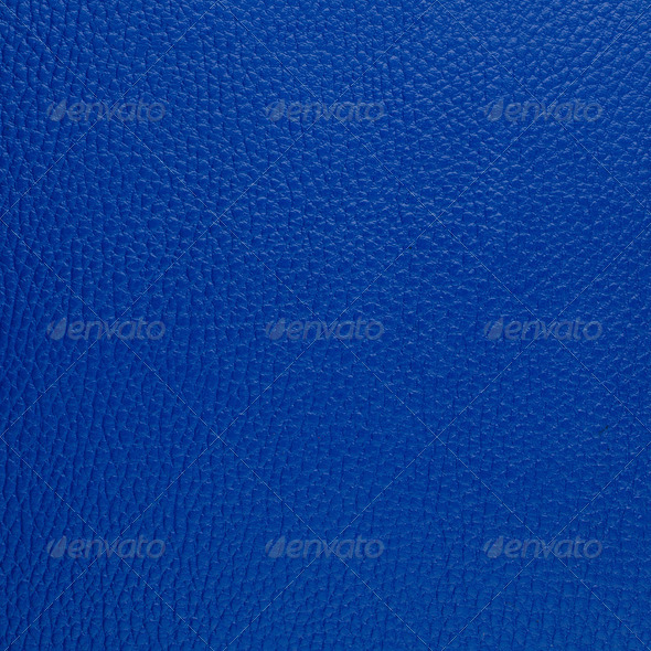 Blue leather - Stock Photo - Images