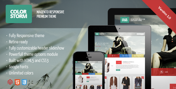 ThemeForest Colorstorm Responsive&Retina Ready Magento Theme 4140999
