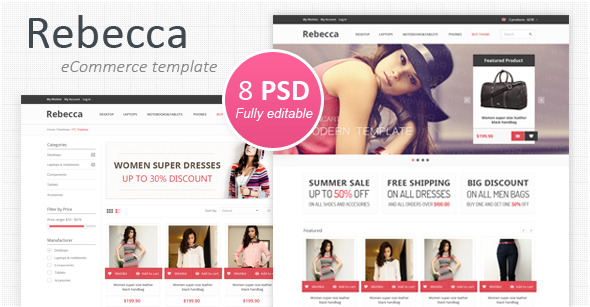 Rebecca - Modern eCommerce PSD Template