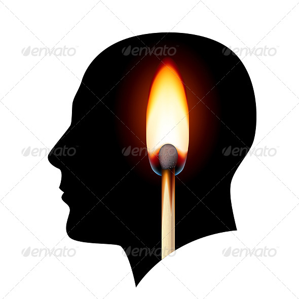 GraphicRiver Creative Ideas Burning Match 4145671