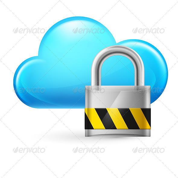 GraphicRiver Cloud Computing and Lock 4147138