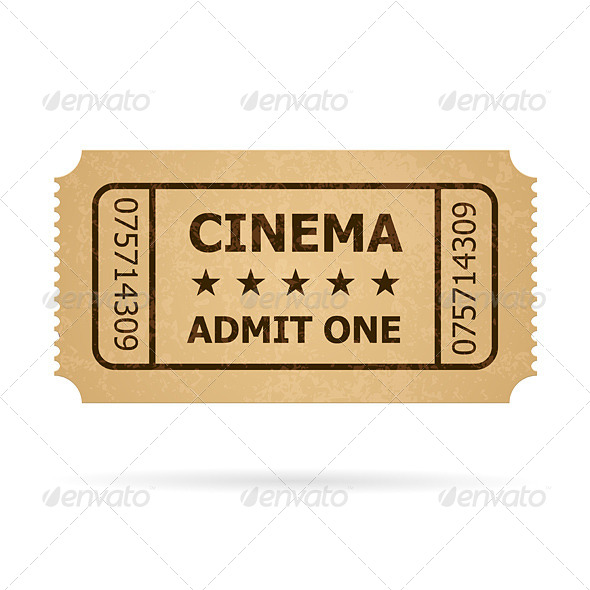GraphicRiver Retro Cinema Ticket 4147153
