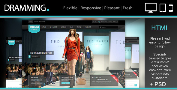 ThemeForest Dramming Pleasant ecommerce site template 4147803
