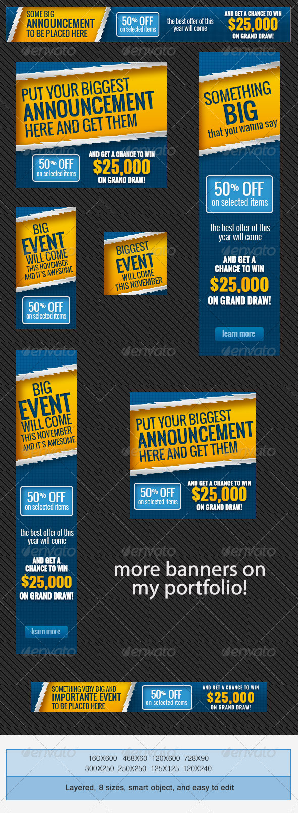 GraphicRiver Big Event Banner Ads PSD Template 4148225