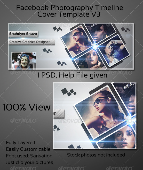 GraphicRiver Photography Timeline Cover V3 4148240