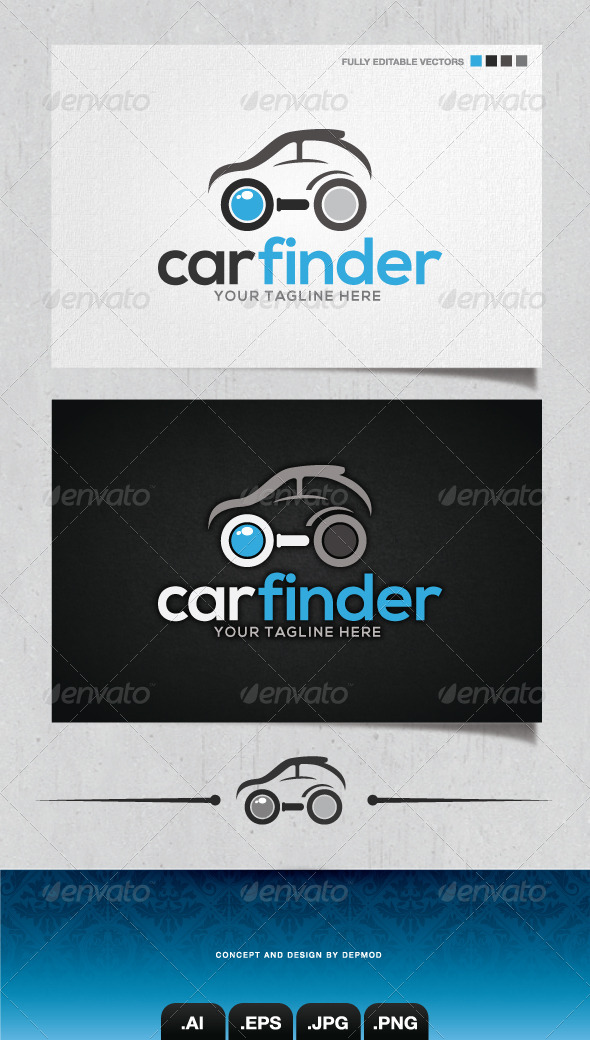 GraphicRiver Car Finder Logo 4148376