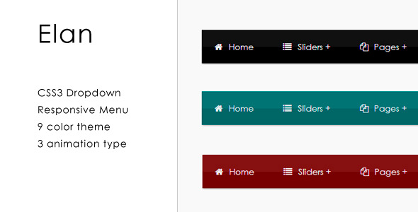 CodeCanyon Elan CSS3 Responsive Dropdown Menu 4148557