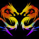 colorful dragon isolated on black background - PhotoDune Item for Sale