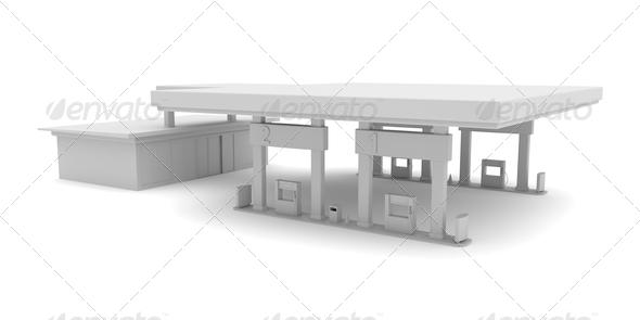 PhotoDune 3D petrol station 4150264