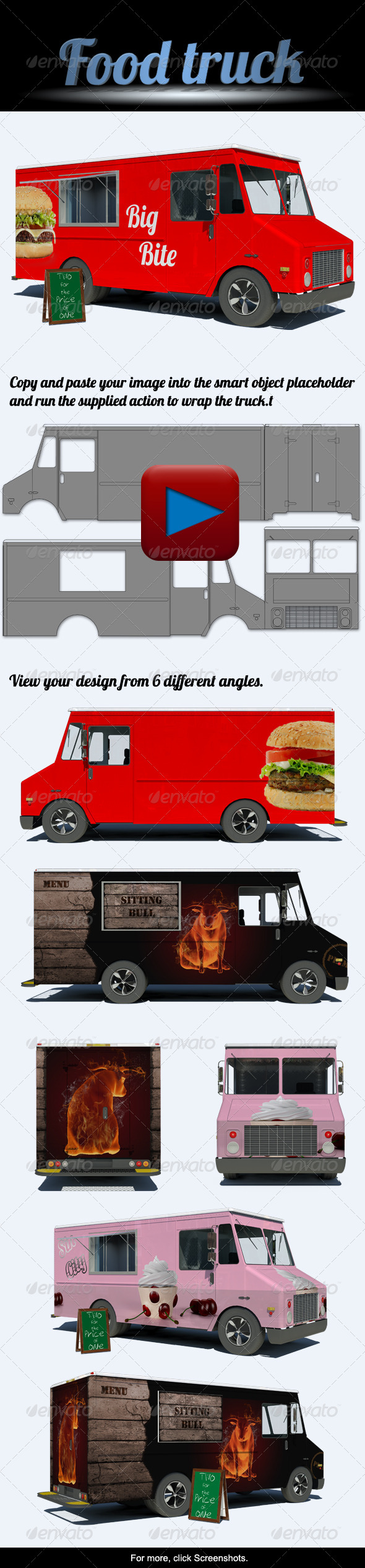 GraphicRiver Food Truck Mock-Up 4149924