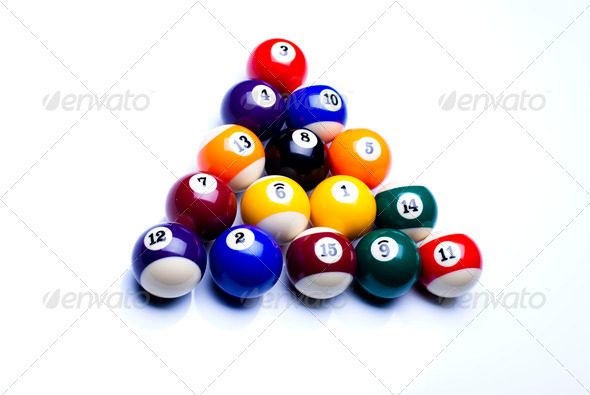 PhotoDune Billiard balls isolate on white 4166165