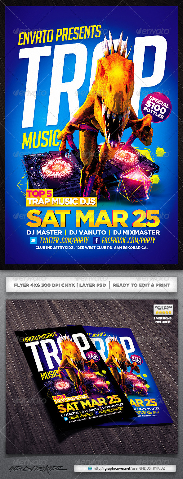 Trap Music Flyer - Clubs & Parties Events