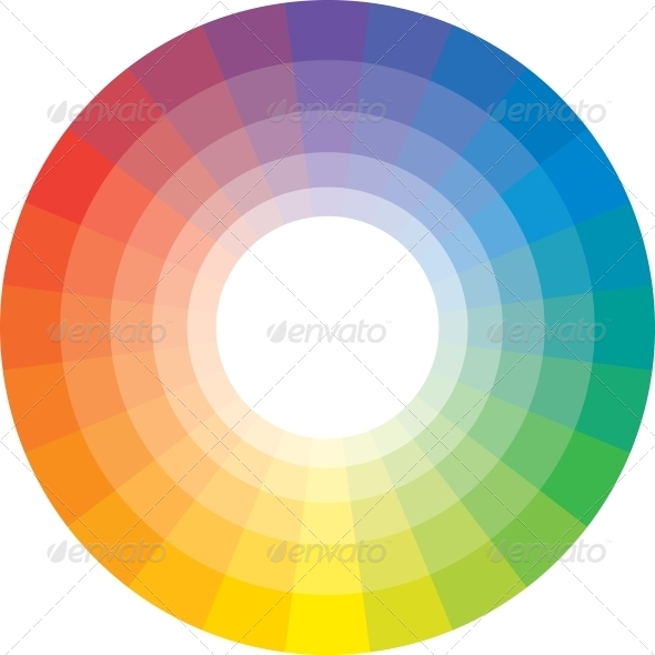 GraphicRiver Multicolor Spectral Circle from 24 Segments 4151547