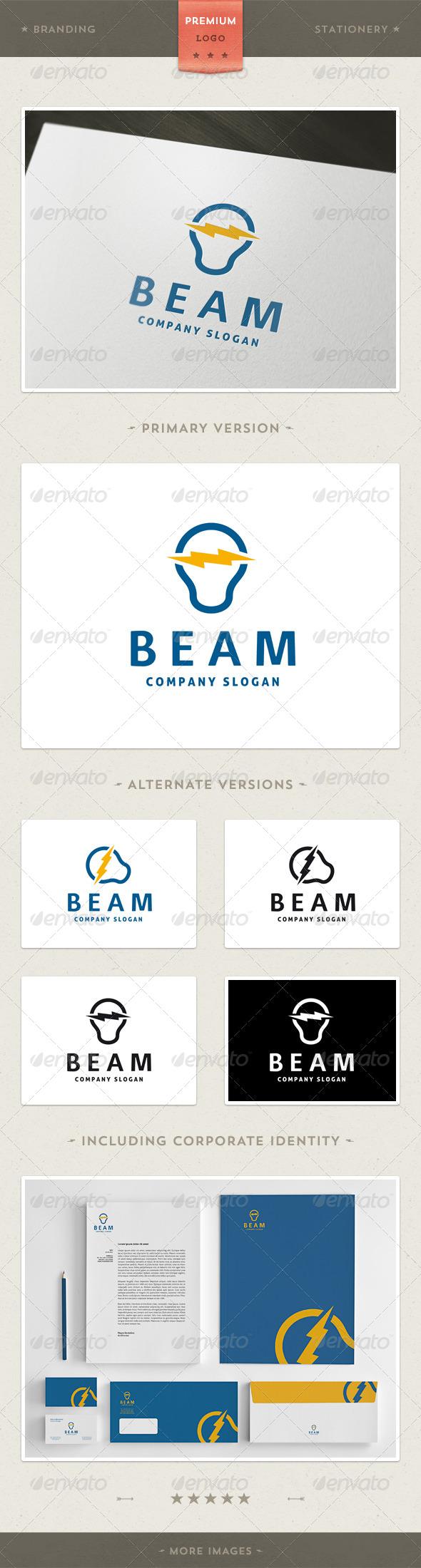 GraphicRiver Power Light Logo Template 3909095