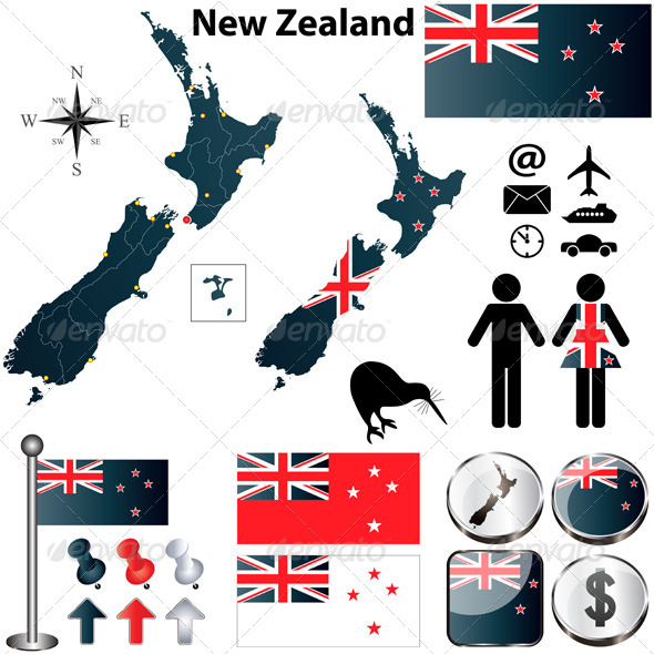 GraphicRiver New Zealand Map 4152948