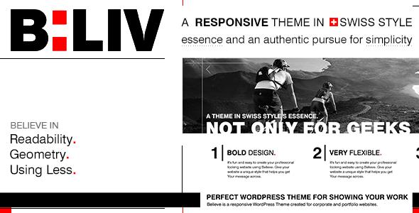 ThemeForest B LIV Responsive Minimal Wordpress Theme 4141443