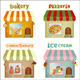 Set of Cartoon Shops - GraphicRiver Item for Sale