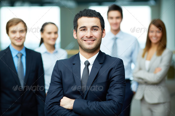 Confident leader - Stock Photo - Images