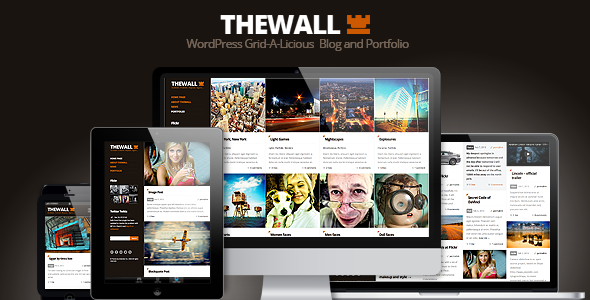 ThemeForest TheWall Grid-A-Licious Blog and Portfolio theme 4117264