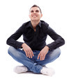Young man sitting cross legged - PhotoDune Item for Sale
