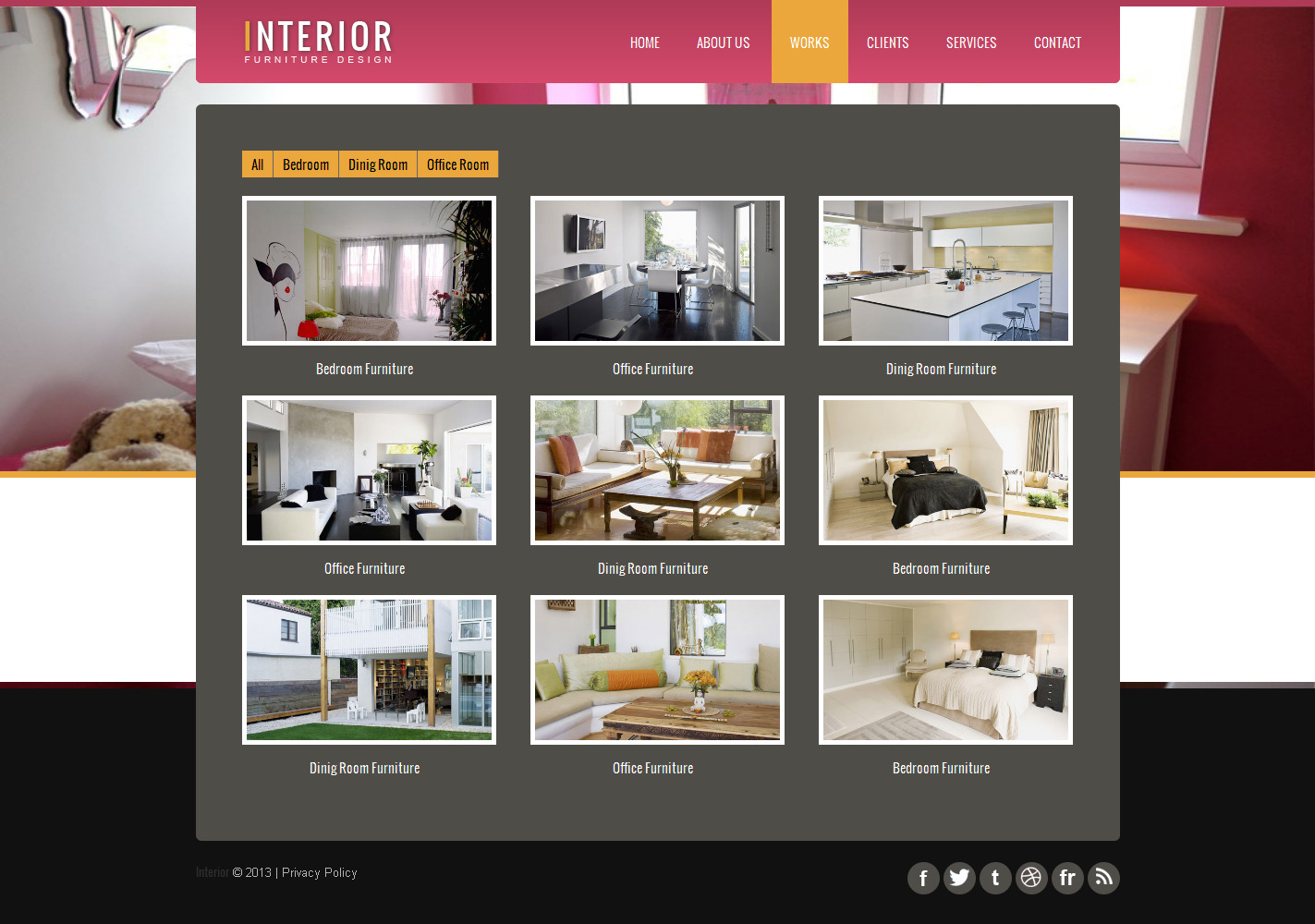 Interior - Responsive Website Template