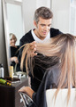 Hairdresser Attending Customer In Hair Salon - PhotoDune Item for Sale
