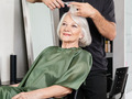 Woman Having Hair Cut At Salon - PhotoDune Item for Sale