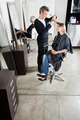 Hairstylist Cutting Customer's Hair In Salon - PhotoDune Item for Sale