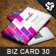 Business Card Design 30 - GraphicRiver Item for Sale
