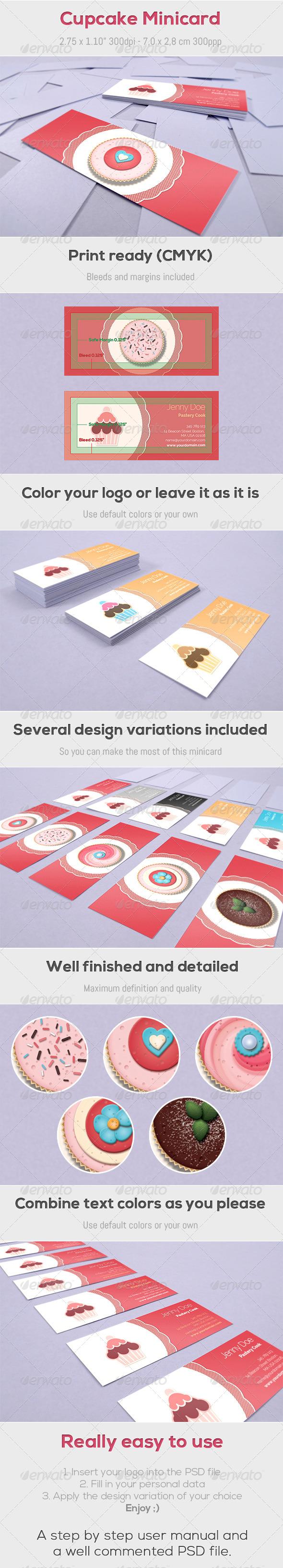 GraphicRiver Cupcake Minicard 4155691